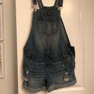 Maternity overalls shorts